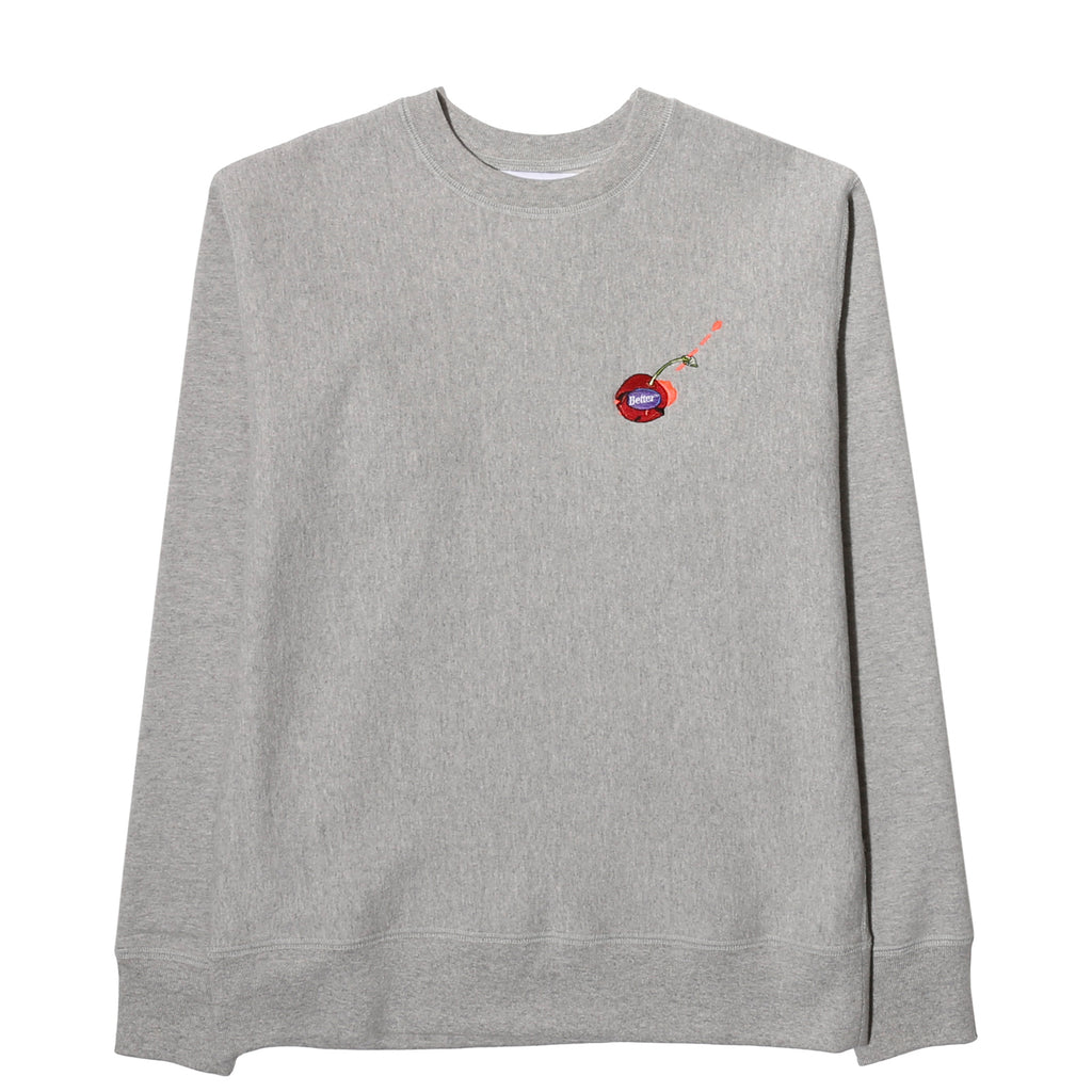 Better TM POPPED CHERRY CREWNECK Heather Grey