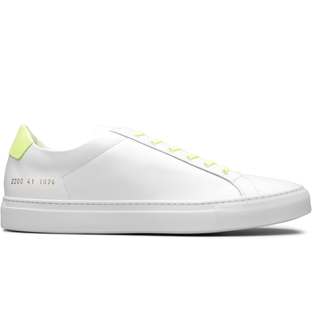 Common Projects RETRO LOW FLUO (White/Yellow) [1074]
