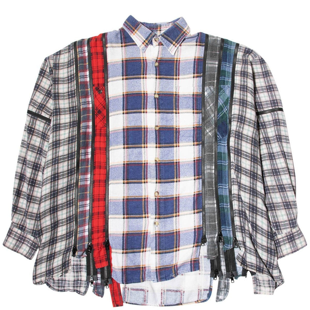 Needles Shirts ASSORTED / O/S 7 CUTS ZIPPED WIDE FLANNEL SHIRT SS21 3