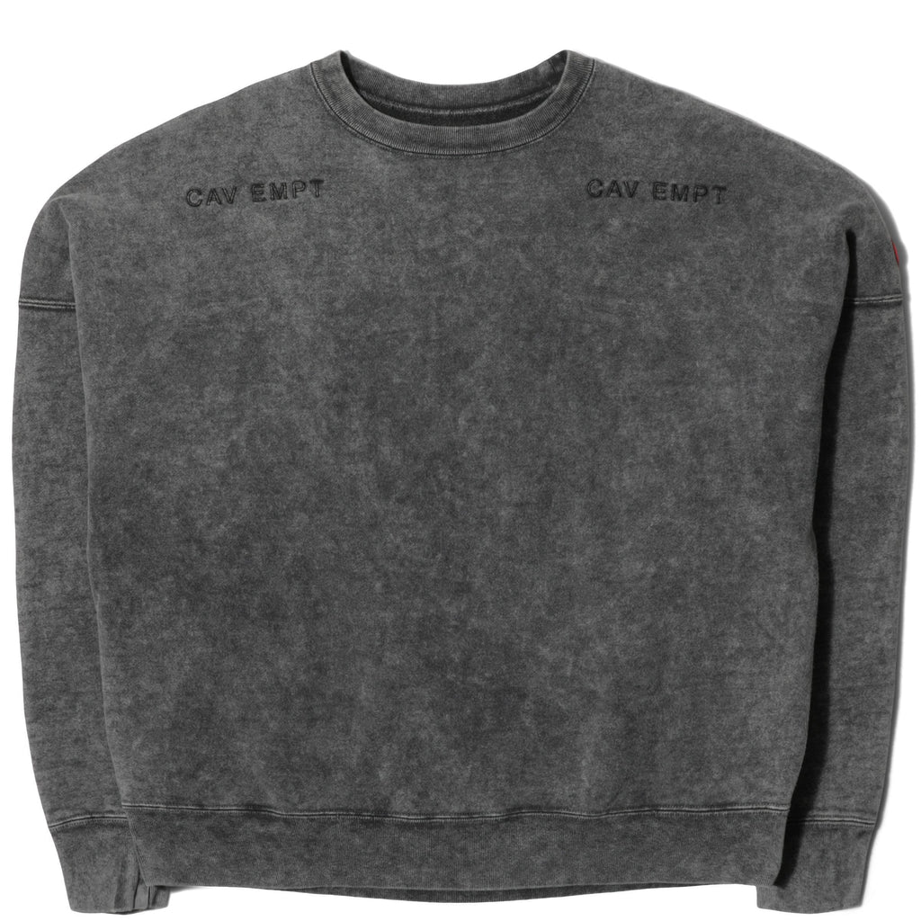 Cav Empt BLEACHED WASH CREW NECK Black