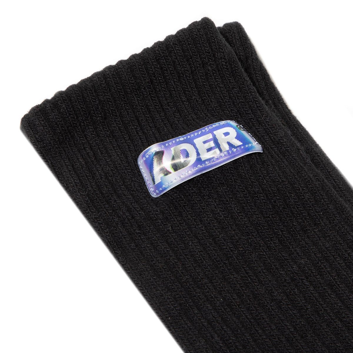 Ader Error Bags & Accessories BLACK / O/S / 20ASSSO12BK SMALL LENTICULAR LOGO SOCKS