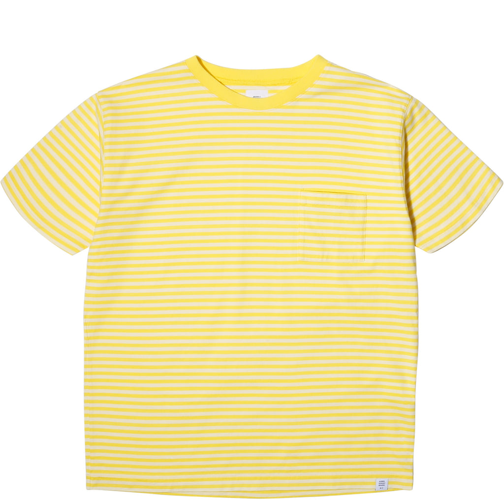 "Bedwin & the Heartbreakers S/S C-NECK BORDER TEE ""EARNIE"" Cream"