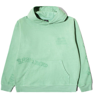 Brain Dead Tonal Type Print Hoodie Putty