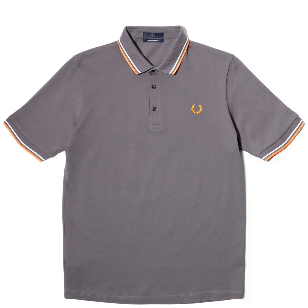 17f13a51 Fred Perry MADE IN JAPAN SHIRT Steel/Neon Orange/White