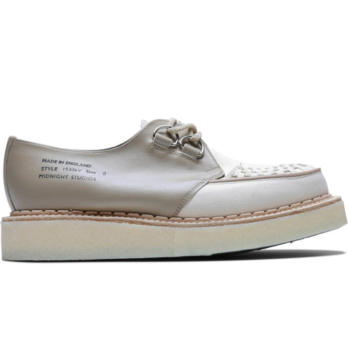 Midnight Studios x George Cox INSIDE OUT LEATHER D-RING CREEPER LOW Natural