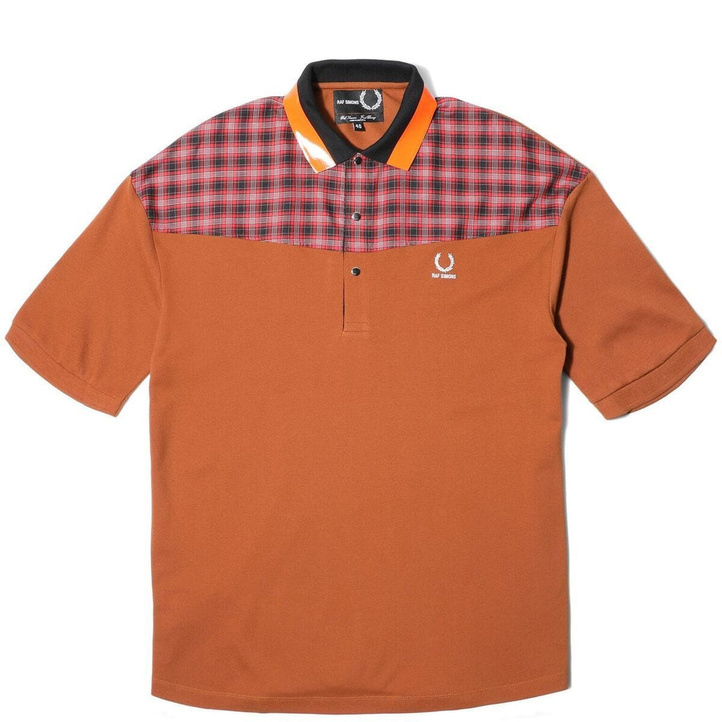 a336115cf3 Fred Perry x RAF SIMONS OVERSIZED PIQUE SHIRT (Caramel Cafe)