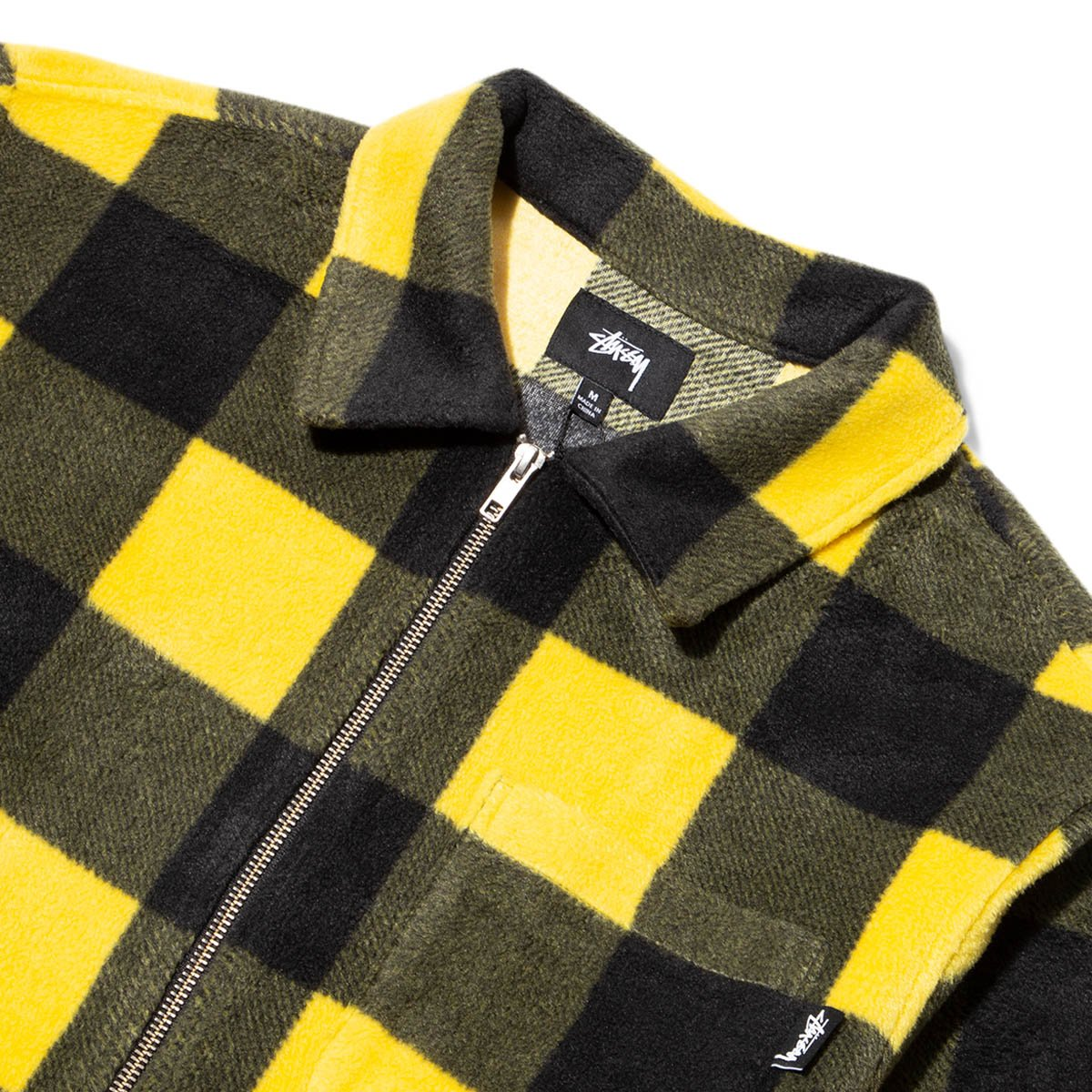 Stussy Shirts POLAR FLEECE ZIP UP SHIRT