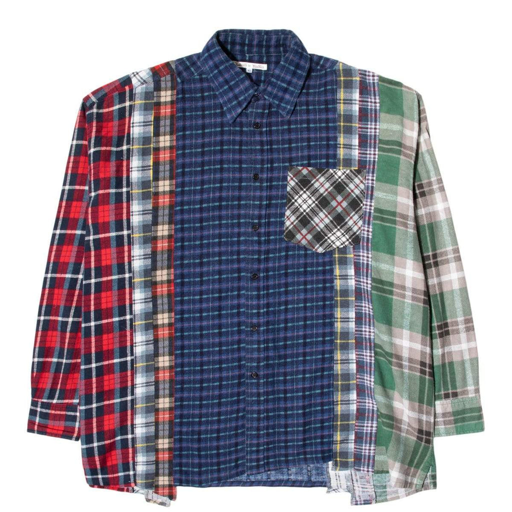 Needles Shirts ASSORTED / XL 7 CUTS FLANNEL SHIRT SS21 25