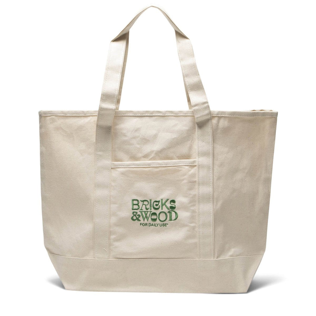 Bricks & Wood Bags & Accessories CREME/GREEN / O/S FOR DAILY USE BOAT BAG