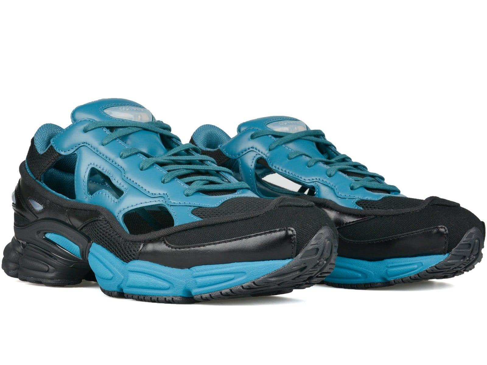 ef1f03d90c589d Adidas x Raf Simons REPLICANT OZWEEGO Core Black Colonial Blue Core Black