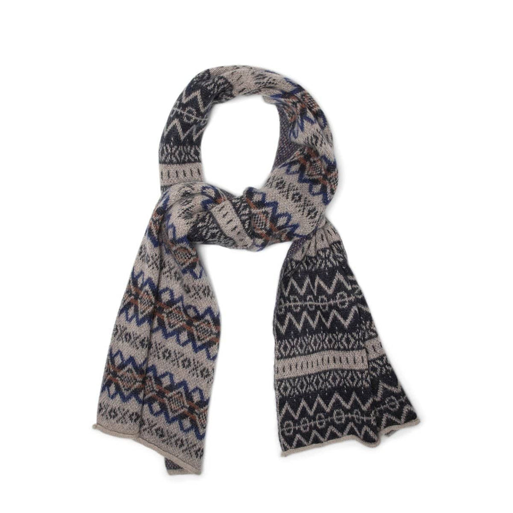 Garbstore Bags & Accessories TAN / O/S THE ENGLISH DIFFERENCE FAIR ISLE SCARF