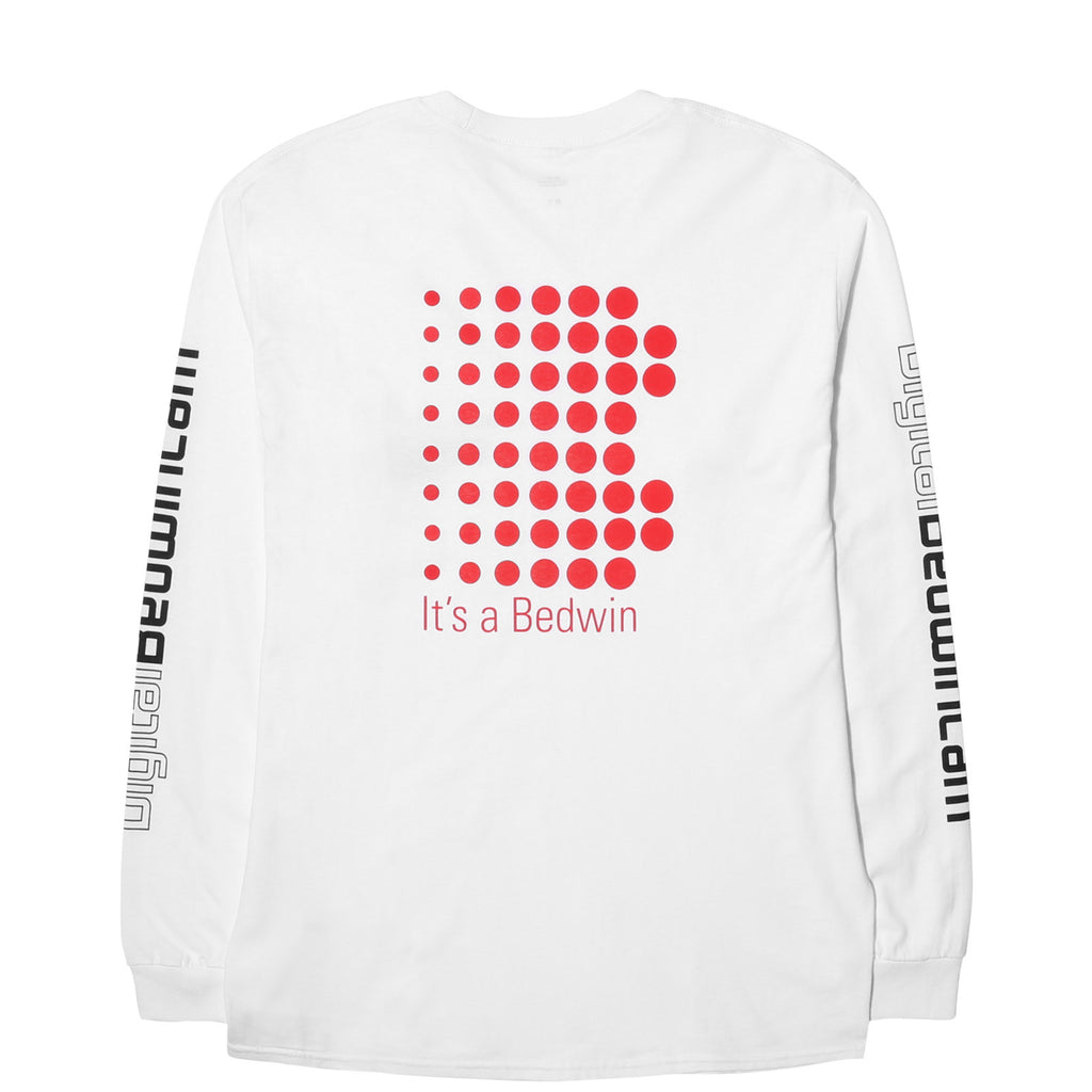 "Bedwin & the Heartbreakers L/S PRINT TEE ""KEITH"" White/Red"