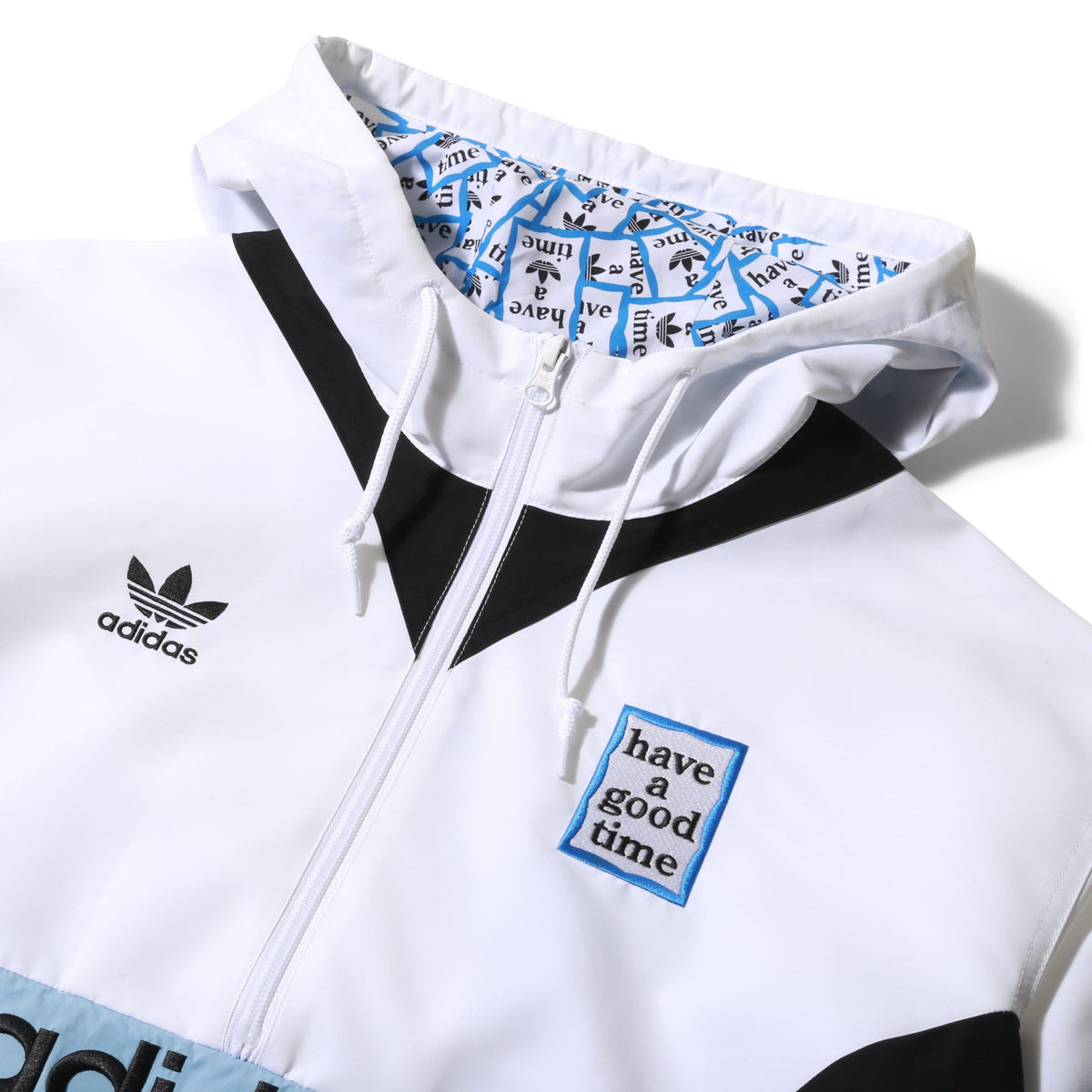 Problema bestia Contradicción  x Have A Good Time PULLOVER WINDBREAKER White/Black/Clear Blue – Bodega