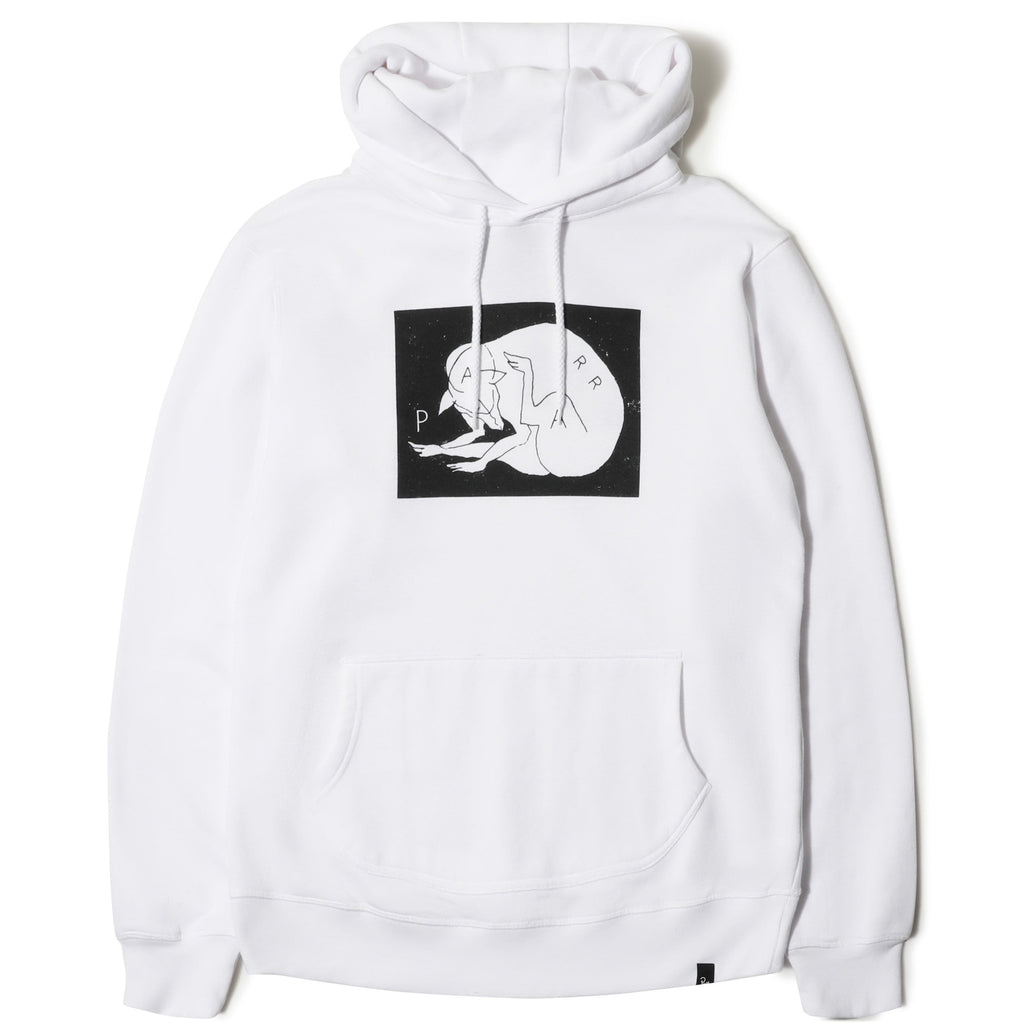By Parra HOODED SWEATER SCRATCH DOG White