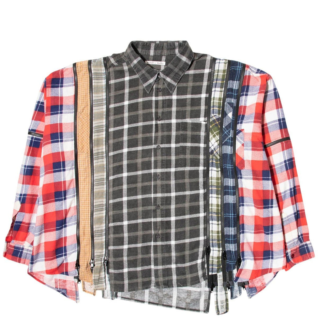 Needles Shirts ASSORTED / O/S 7 CUTS ZIPPED WIDE FLANNEL SHIRT SS21 12