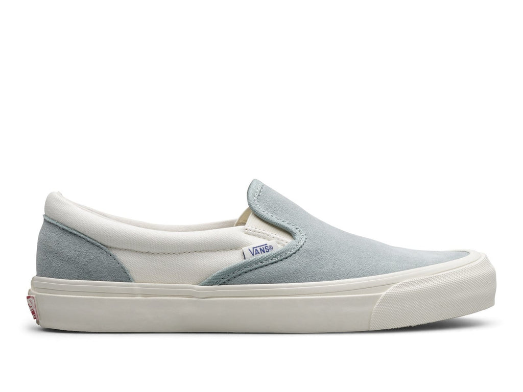 Vault by Vans OG CLASSIC SLIP-ON LX Suede Canvas Steel/Marshmallow