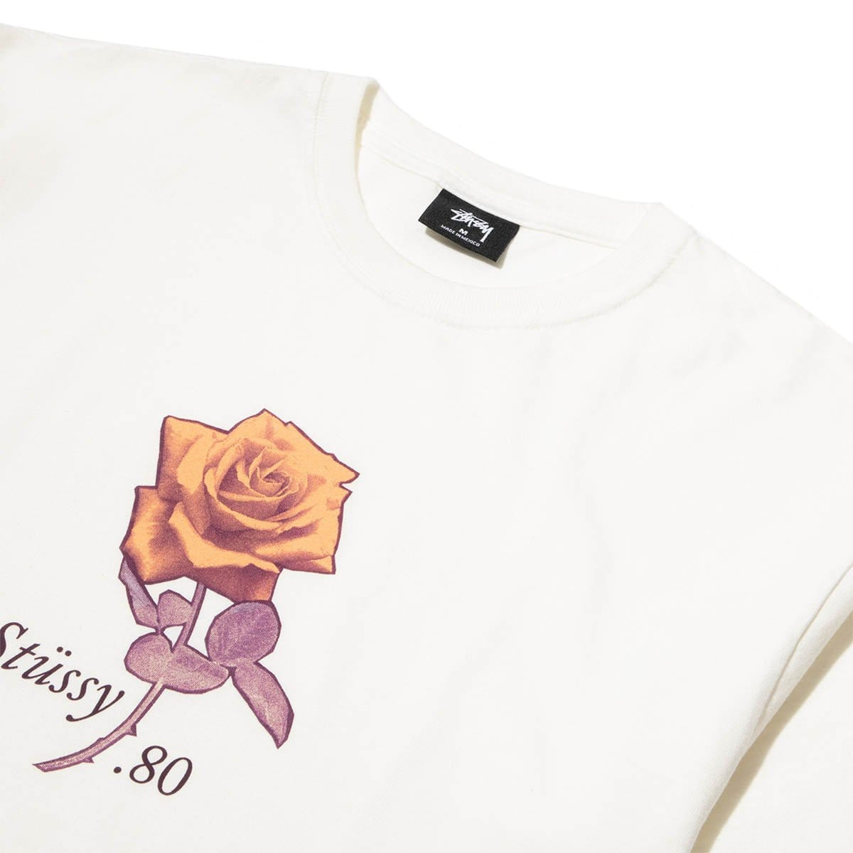 Stüssy T-Shirts 80 ROSE PIG. DYED TEE