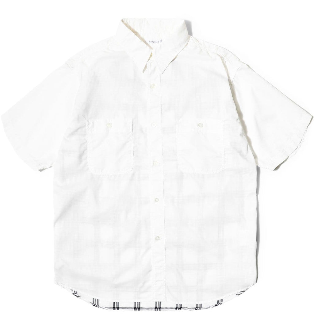 Nanamica H/S CHECK WIND SHIRT White