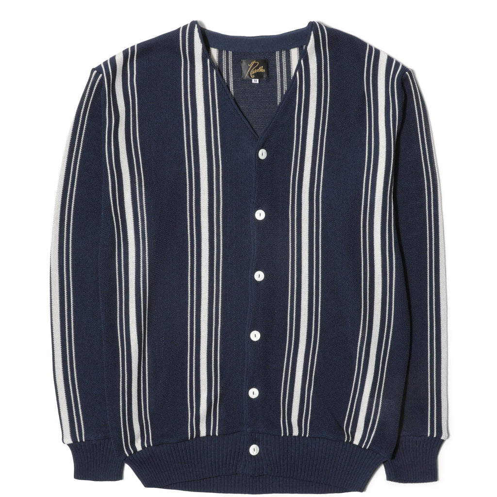 Needles V NECK CARDIGAN Navy