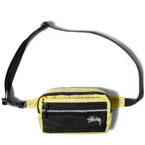 STUSSY DIAMOND RIPSTOP WAIST BAG LIME