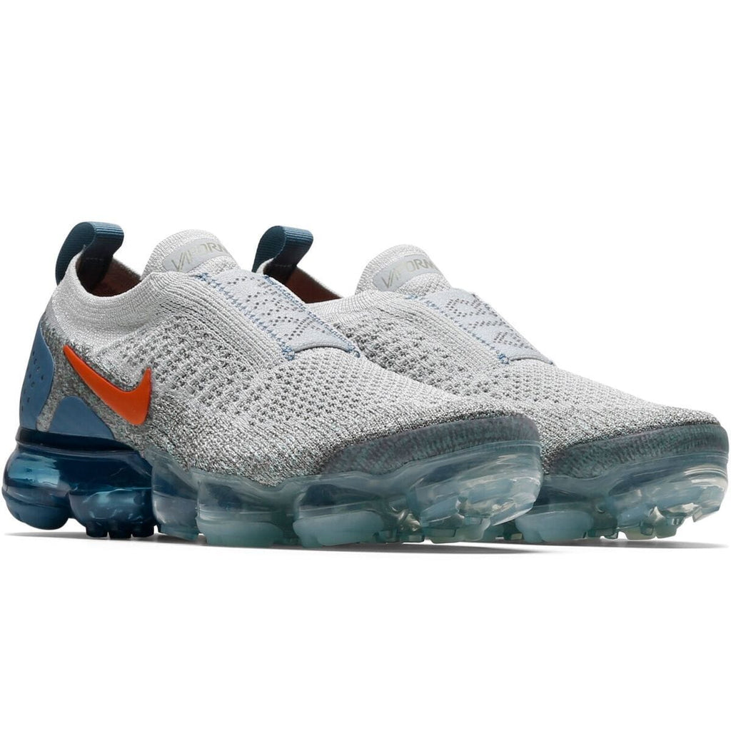 Nike Women's AIR VAPORMAX FLYKNIT MOC 2 (Light Silver/Campfire Orange-Dark Stucco) [AJ6599-005]