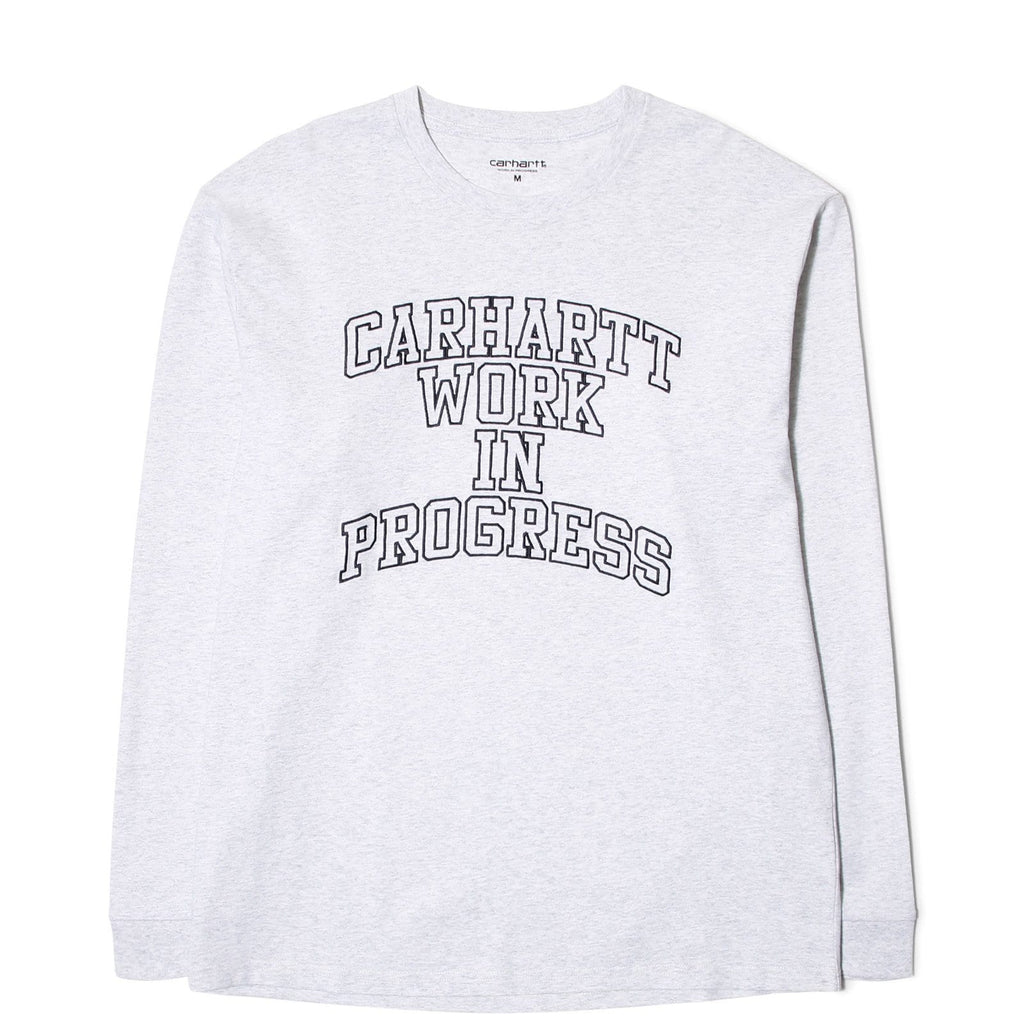 Carhartt W.I.P. L/S WIP DIVISION EMBROIDERED T-SHIRT Ash Heather/Navy
