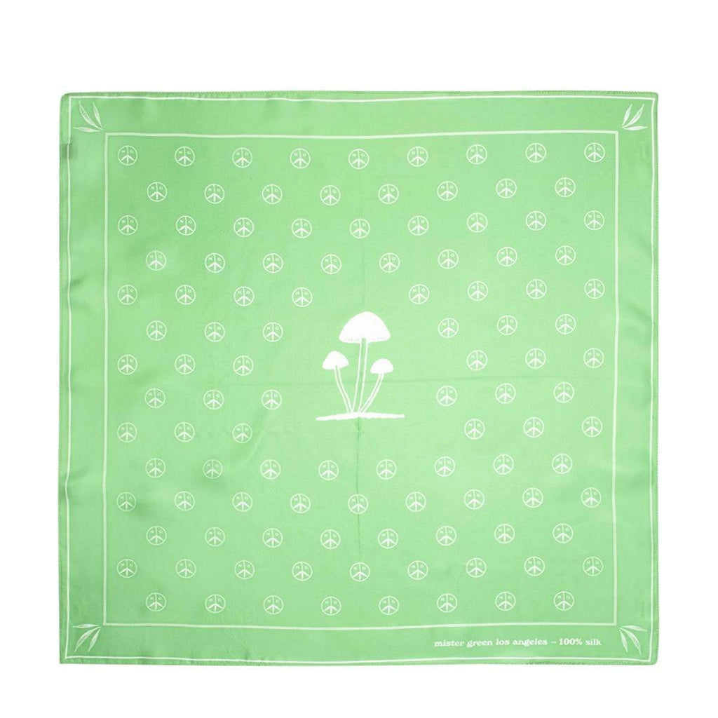 Mister Green Bags & Accessories GREEN / OS GENERAL PSYCH. V2 SILK BANDANA