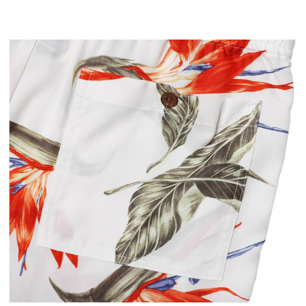 Wacko Maria BIRD OF PARADISE HAWAIIAN SHORTS White
