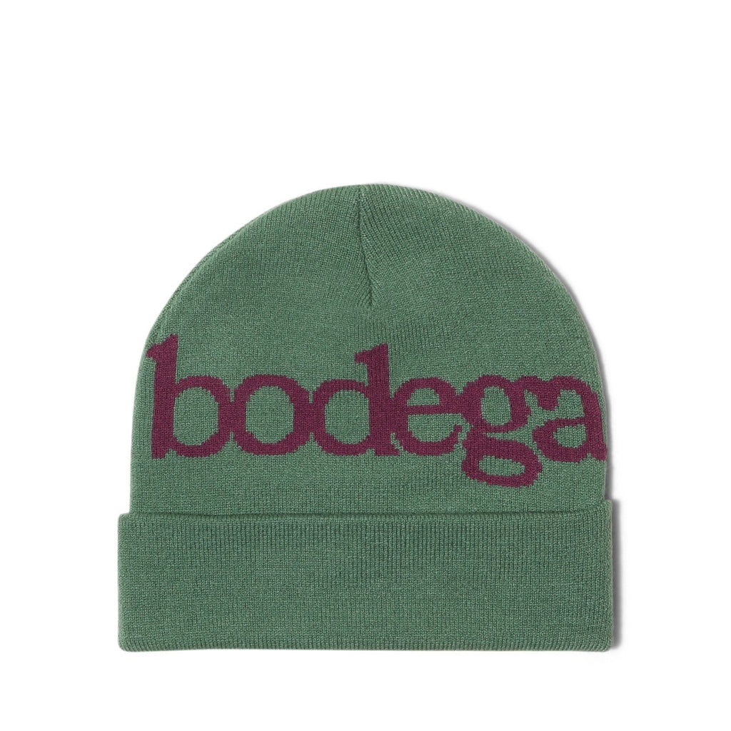 Bodega SERIF BEANIE Green/Grape