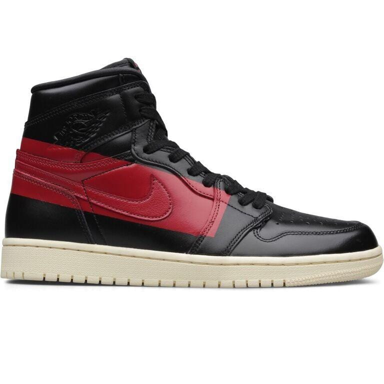 purchase cheap b139c ffc92 Jordan Brand AIR JORDAN 1 DEFIANT (Black Gym Red-Muslin)  BQ6682