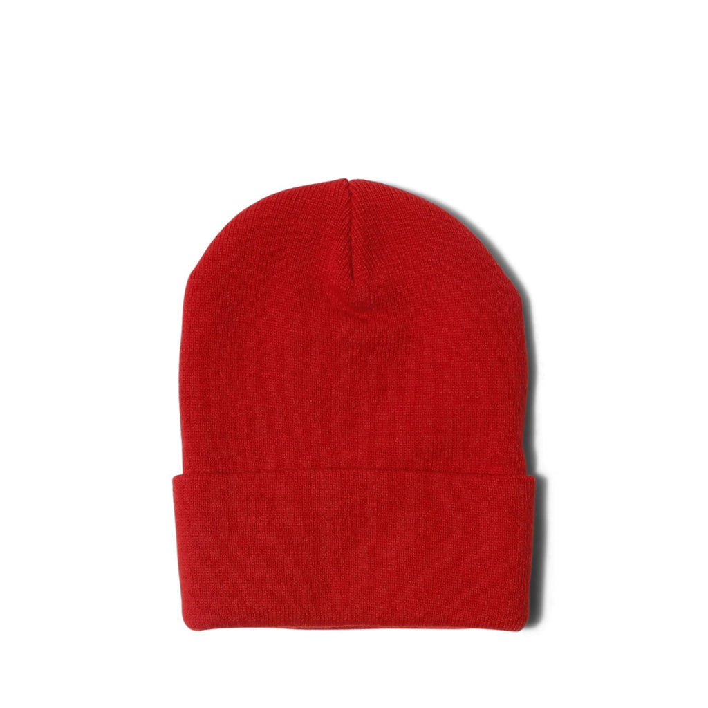 Born x Raised LABEL BEANIE Red