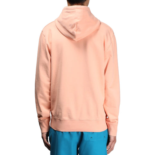 HOODED COLLEGE SWEATSHIRT Peach/White – Bodega
