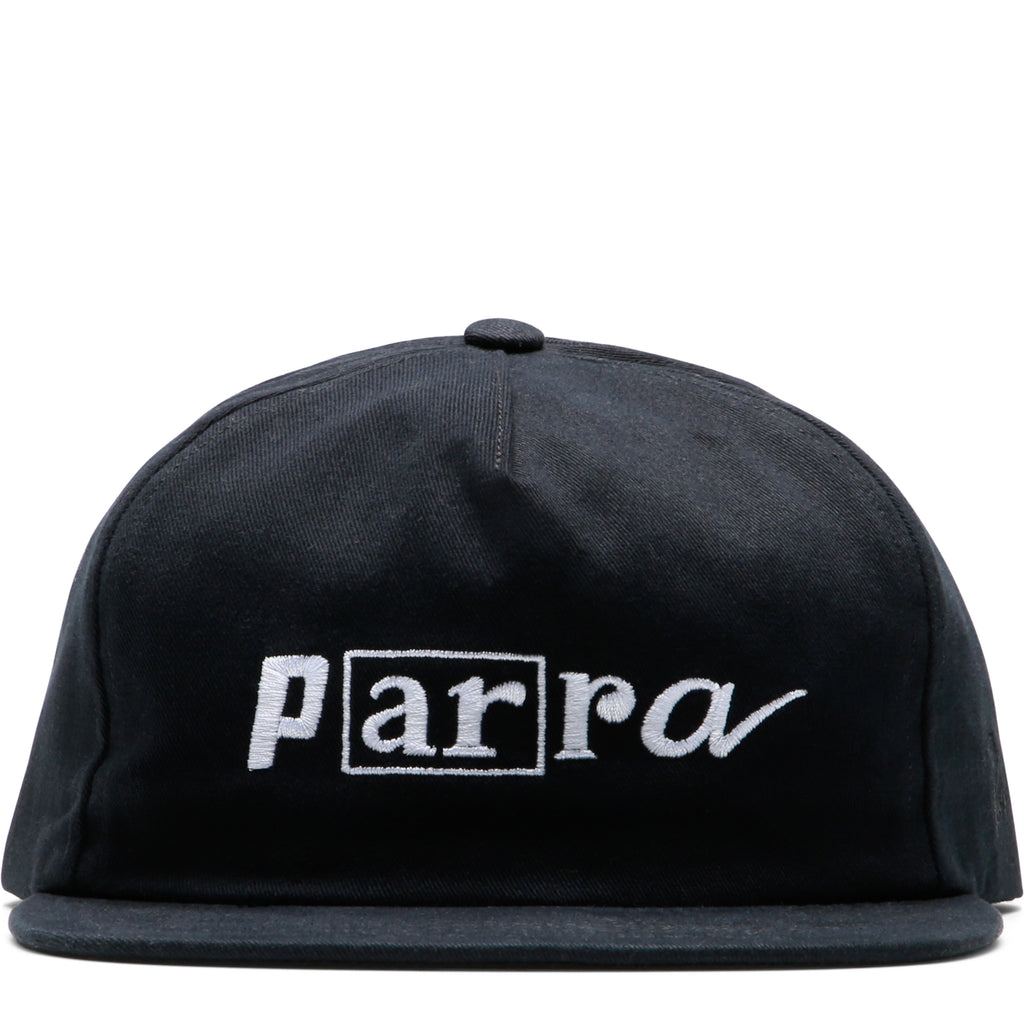 cf7f4481431 By Parra 5 PANEL HAT SCRIPT BOX LOGO Black