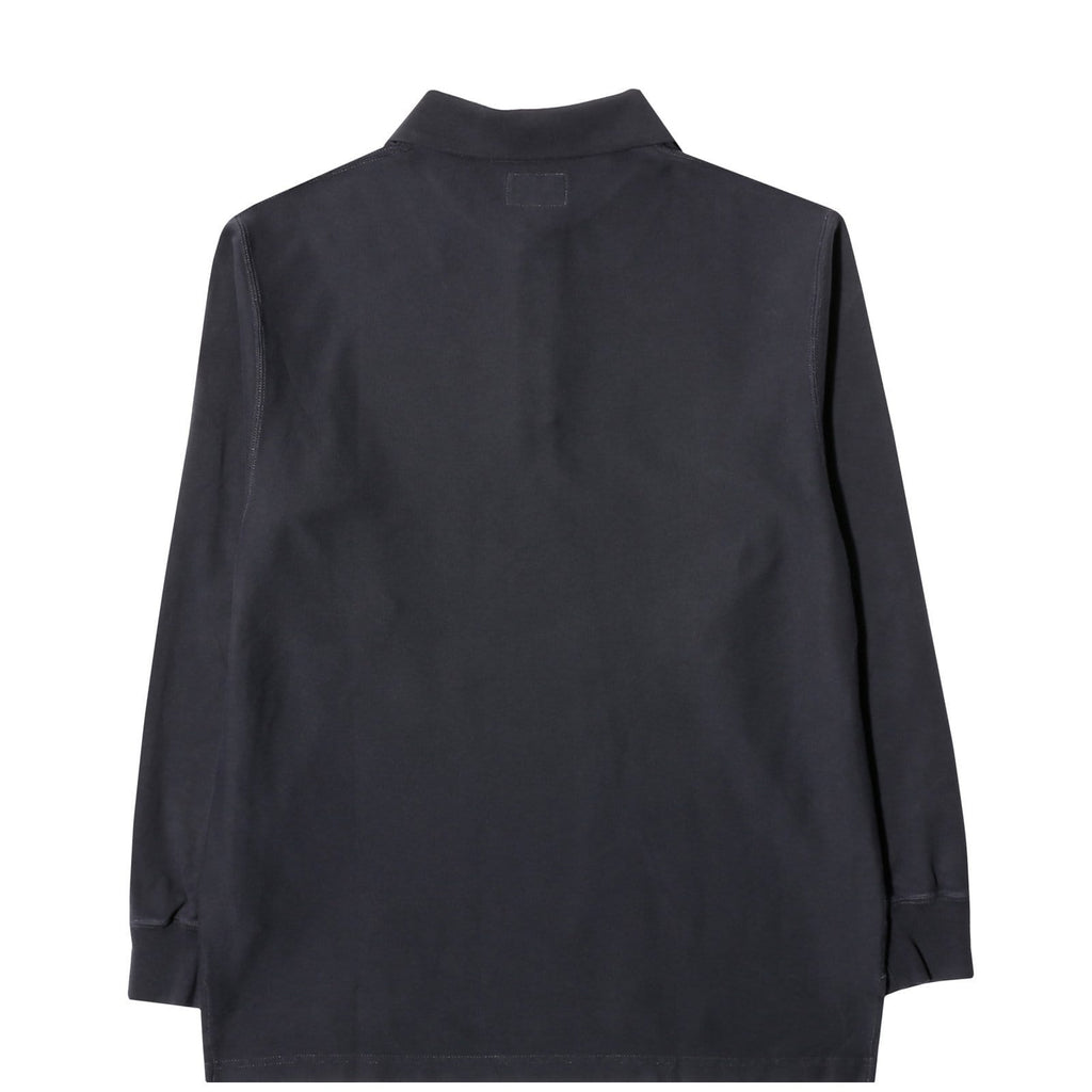 Cav Empt OVERDYE RIB LONG SLEEVE POLO Black