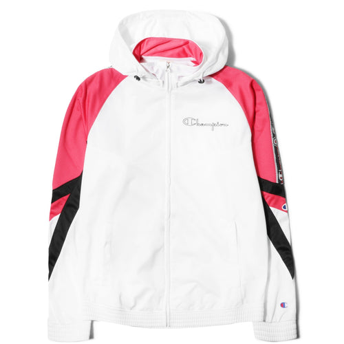 2afdc11877d9 Champion Europe HOODED FULL ZIP TOP White