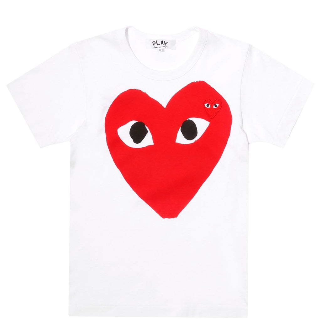 Comme des Garcons Women's PLAY T SHIRT White