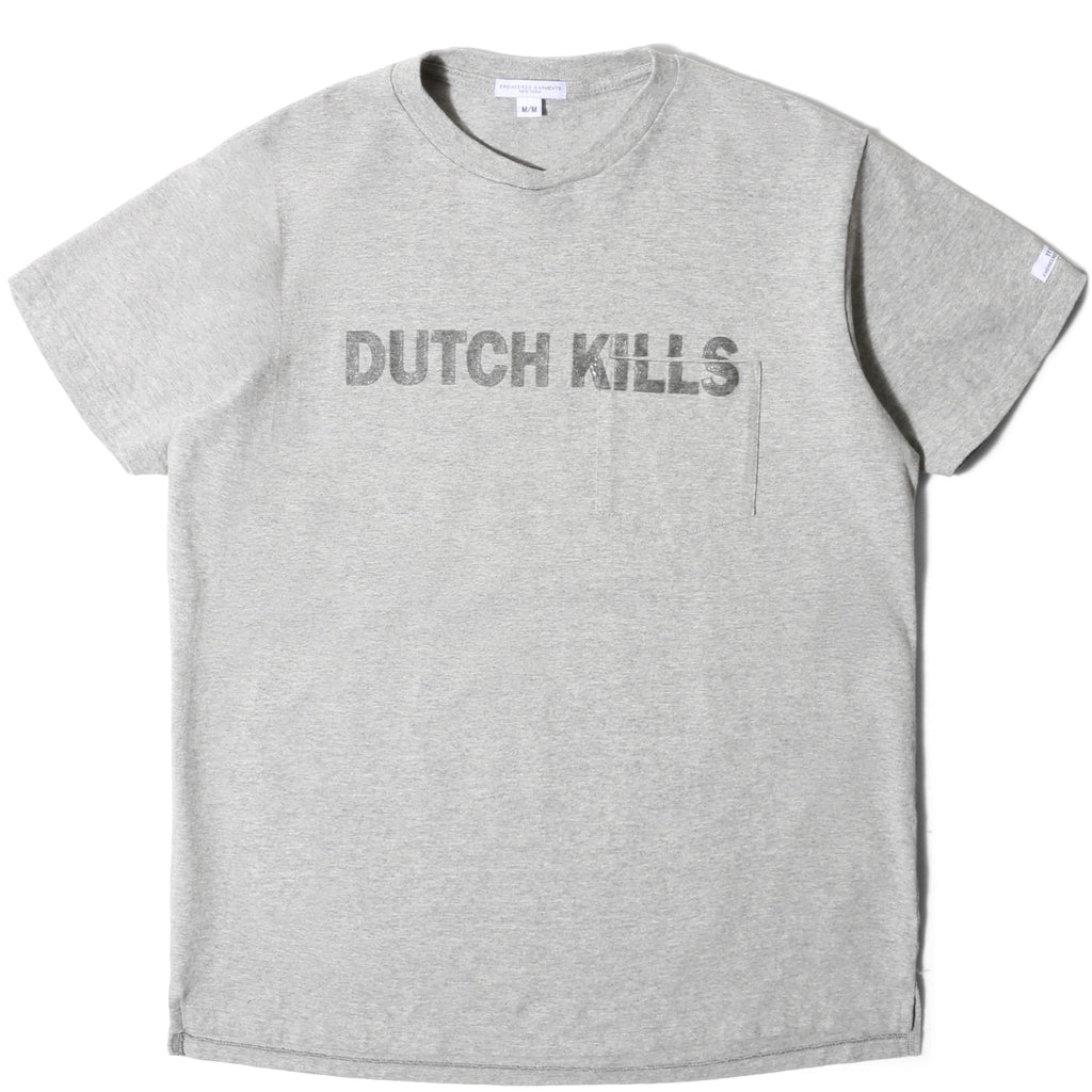 Engineered Garments PRINTED T-SHIRT Grey Dutch Kills