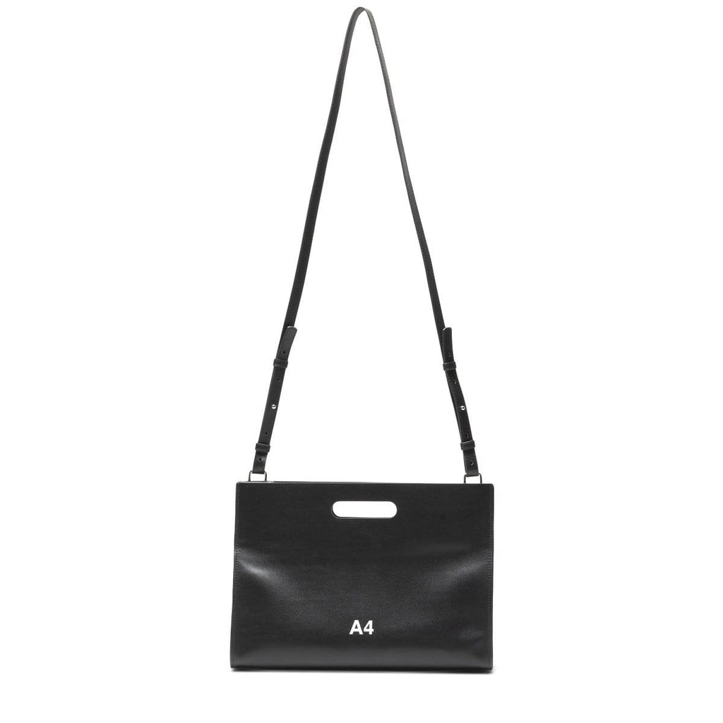 nana-nana Bags & Accessories BLACK / O/S RECYCLE LEATHER A4