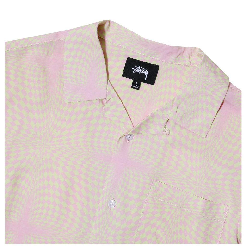 Stussy PSYCHEDELIC CHECKER SHIRT Peach