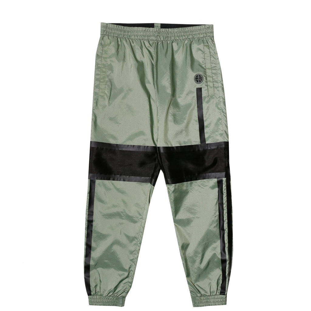 Astrid Anderson TRACK TROUSER WITH CUTS GREEN