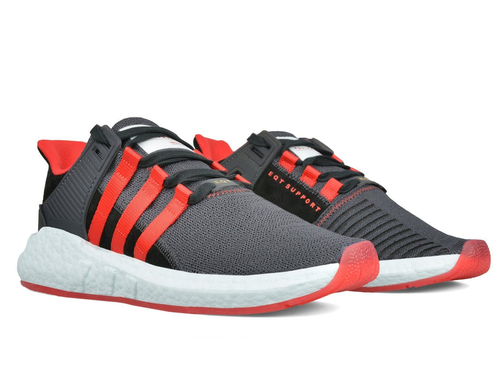 Adidas EQT SUPPORT 93/17 YUANXIAO Carbon/Core Black/Scarlet