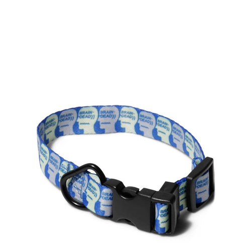 Brain Dead LOGO DOG COLLAR Blue