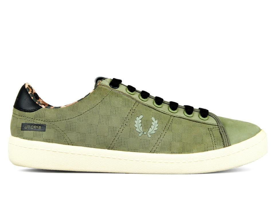 Fred Perry X BODEGA REISSUE TENNIS SHOE Olive