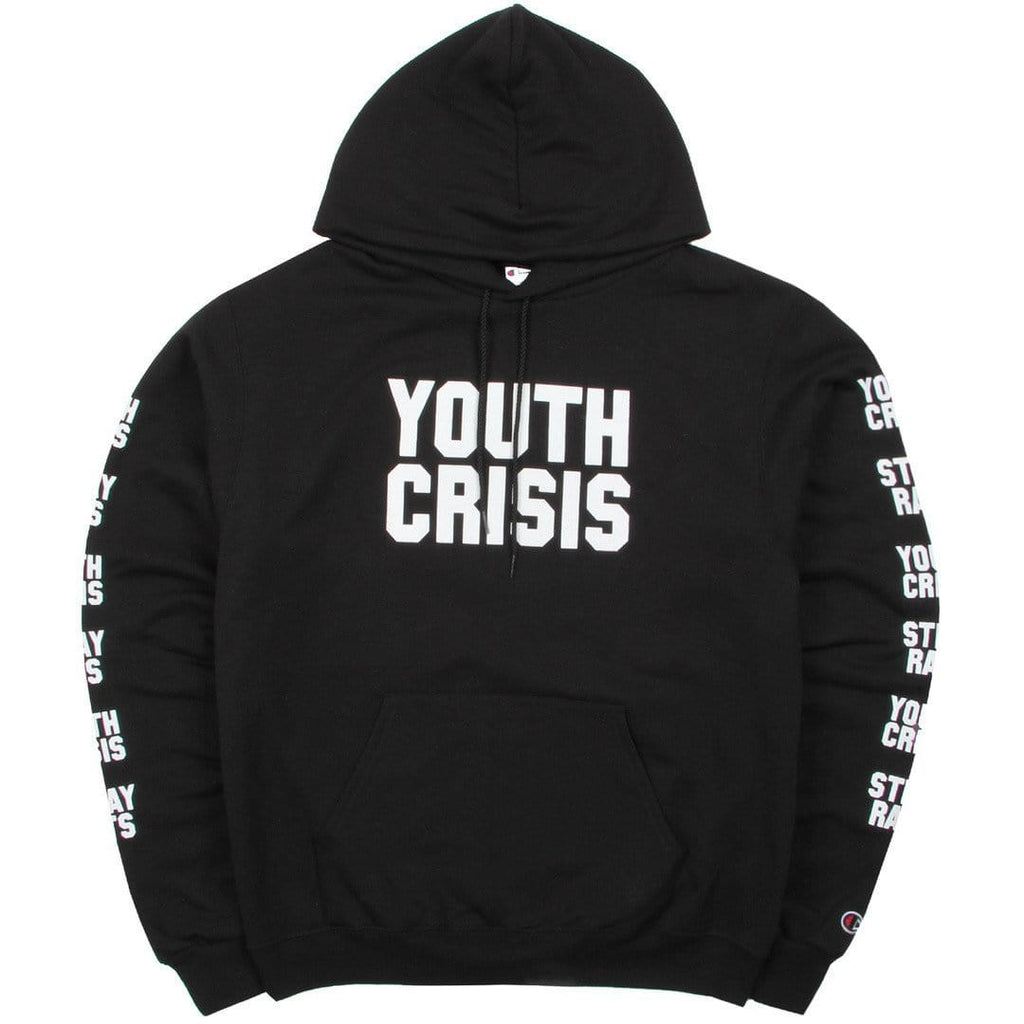 Stray Rats YOUTH CRISIS HOODIE Black