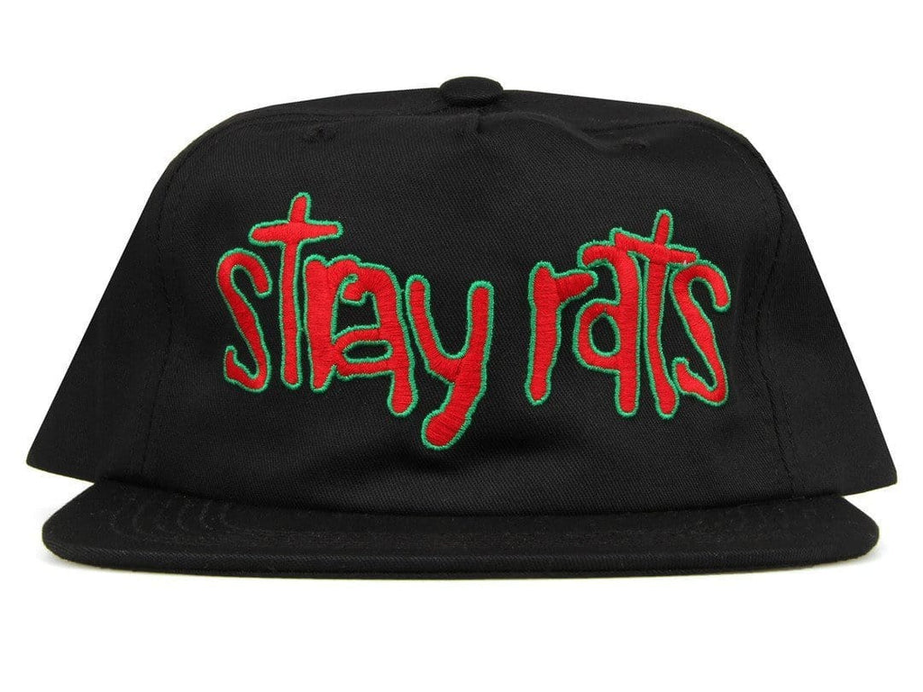 Stray Rats BRAINS SNAPBACK Black