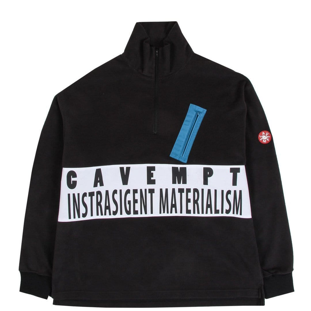 Cav Empt FLEECE ZIP TURTLE NECK Black