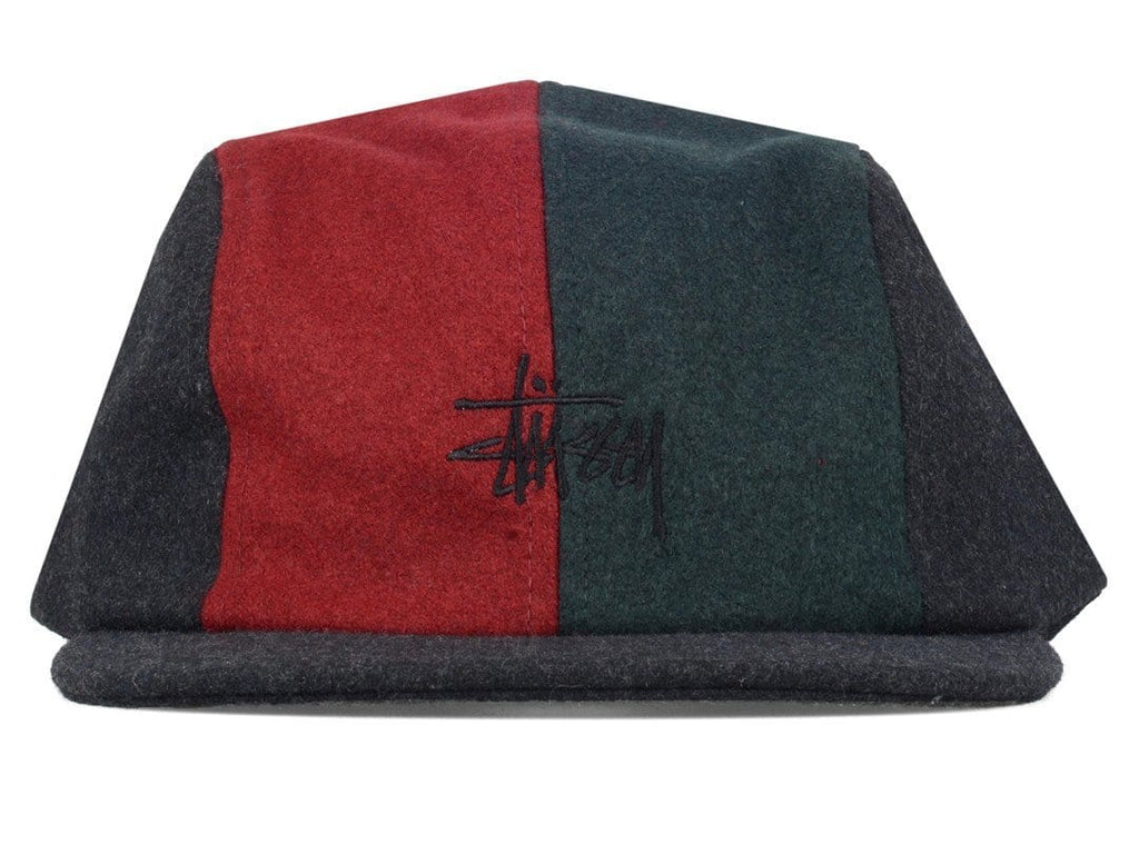 Stussy MELTON WOOL 4 PANEL CAMP CAP Black