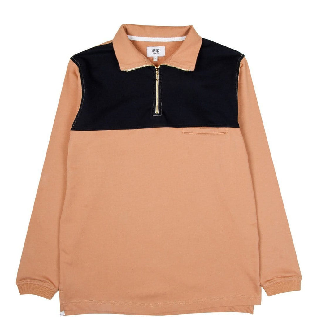 Grind London INTERNATIONAL PULLOVER Peach/Navy/White