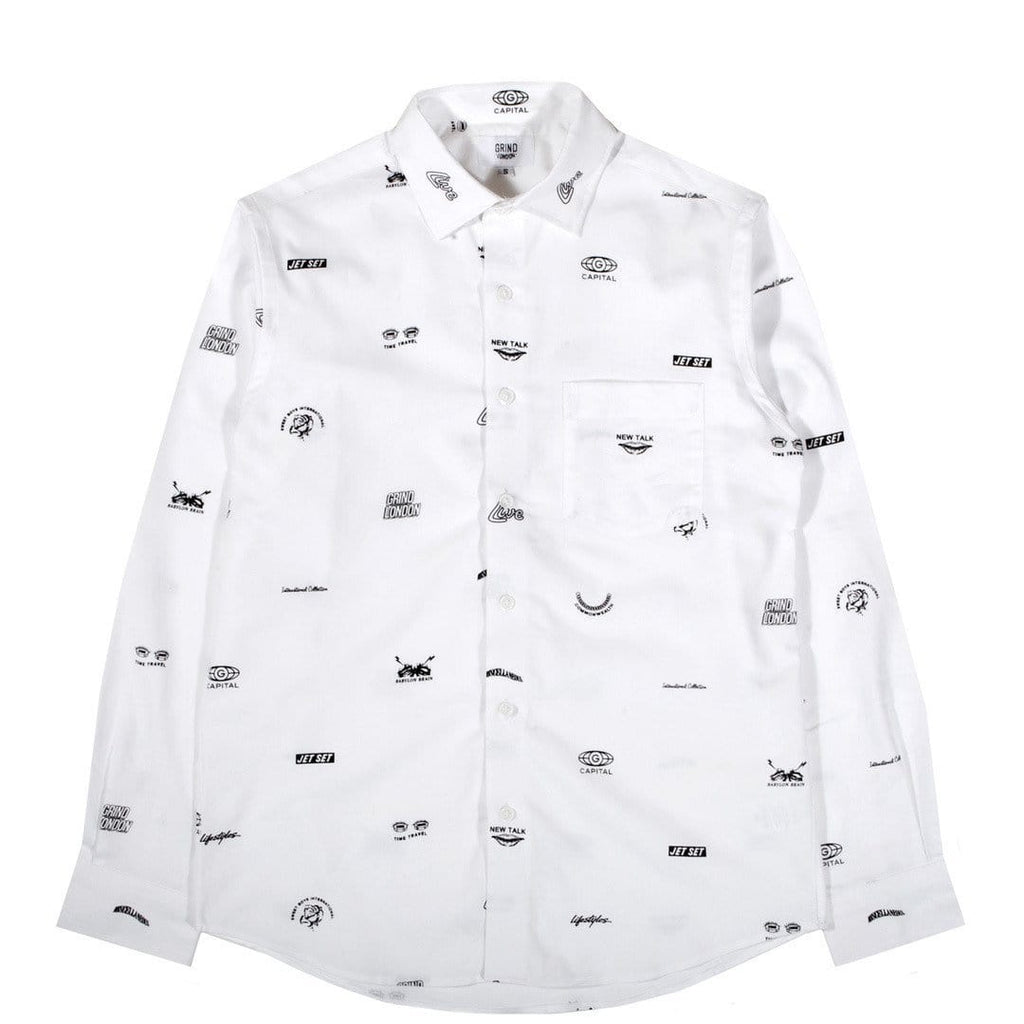 Grind London JET SET SHIRT White