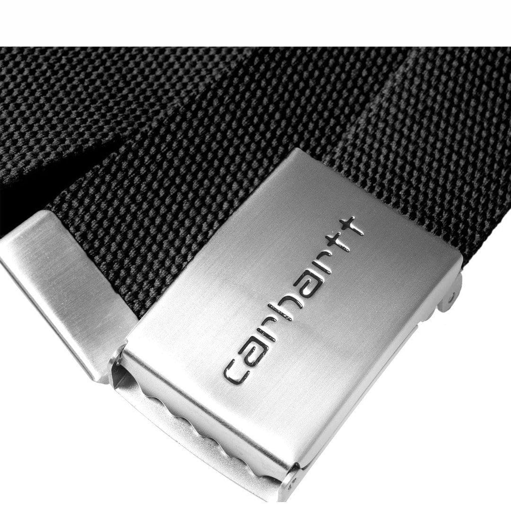 Carhartt W.I.P. CLIP BELT CHROME Black